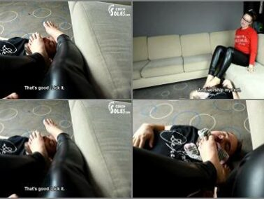 K2s.cc - 'Foot slave for her smelly socks and feet' of 'Czech Soles studio