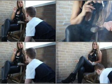 Online - Goddess Amber starring in video 'My Human Ashtray'