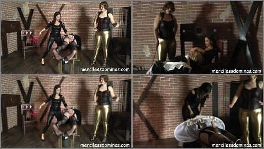 Lady G Madam Lucrecia starring in video Susan The Sissy of Merciless Dominas studio preview