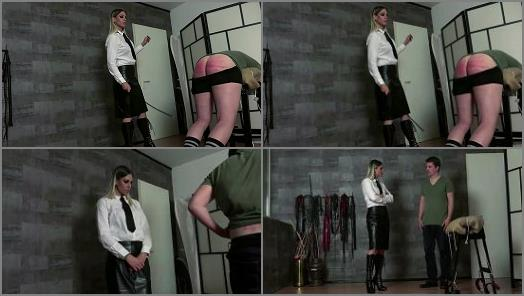 Strict Lady - Lady Mystique starring in video 'Caned Hard By The Teacheress' of 'FEMDOM-POV-CLIPS' studio