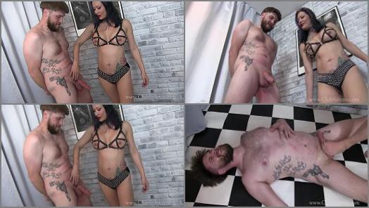 Femdom Tube – Miss Jasmine starring in video 'Kick him Where it HURTS' of 'Club Stiletto' studio