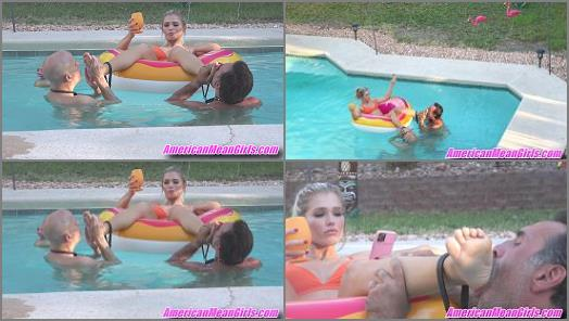 Princess Amber starring in video Floating Foot Worship of THE MEAN GIRLS studio preview