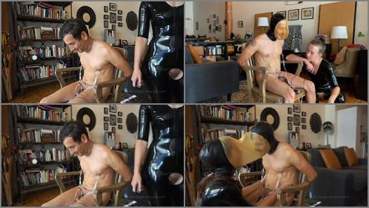 Bdsm – 'Tunnel Vision – Kino Payne and Elise Graves – Kino Gets the Single and DOUBLE Rebreather Hood Treatment! – Latex – Electro CBT – Orgasm' of 'Elise Graves Bondage Liberation' studio