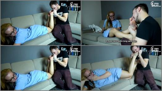 Erika starring in video Nurse sensual foot worship during Corona epidemic of Czech Soles studio preview