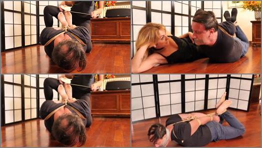 Barefoot – Louis & Alba starring in video 'One Hogtie Afternoon' of 'Alba Loves Bondage' studio