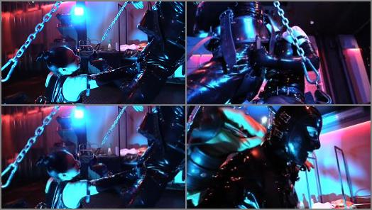 Melisande Sin and Cybill Troy starring in video Bring The Painal Extreme Heavy Rubber Suspended StrapOn  Fisting of Cybill Troy FemDom AntiSex League studio preview