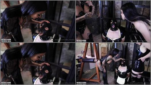 Mistress Mika Mistress Karina starring in video Spit Slave The Taste Of Goddess Juice preview