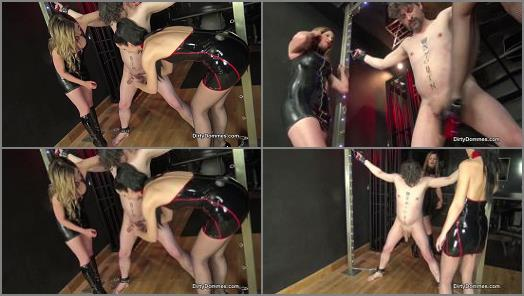 Nikki Whiplash starring in video Vicious Ballbusting Castration Part 1 of Dirty Dommes studio preview