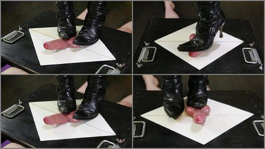 Sexy Boots new Rock CBT Ballbusting of House of Era studio preview