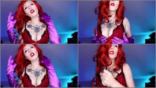 Masturbation Instruction – Arwen Datnoid starring in video 'Jessica Rabbit CEI JOI Anal Instructions'