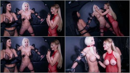 Online – Barbie Sins, Jasmine Sinclair, Jasmine Jae starring in video 'THE BIRTHDAY TORMENT CONTINUES' of 'Bound Honeys' studio