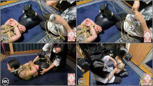 HBC X TBL Mistress Chiaki Gags and Hogties Lady Hinako in Rope and Tickles Her preview