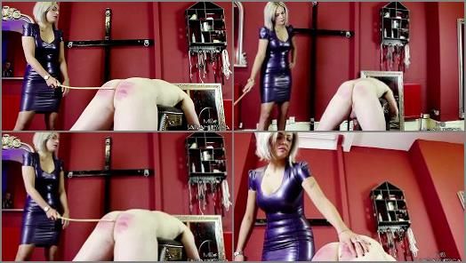 Femdom Tube - Miss Sarah Jessica starring in video 'The Striped Bottomed Slave'