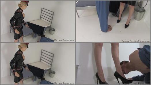 Rubber Cap – Mistress Eleise de Lacy starring in video 'Cell Inspection – Complete Film' of 'Femme Fatale Films' studio