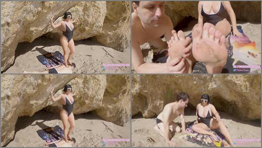 Mistress Veronica Vixen starring in video Brutal Beach Humiliation preview