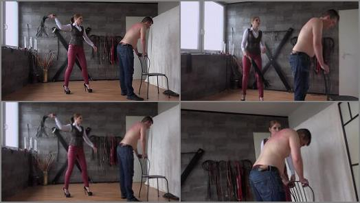 Whipping – MISTRESS CLOE starring in video 'WHIPPED FOR CAR DAMAGING' of 'FEMDOM-POV-CLIPS' studio