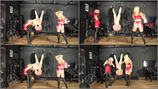 Mistress Nikki Whiplash starring in video Inverted Suspension Whipping preview