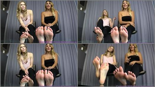 Toe wiggling – Brat Princess 2 – Princess Amber, Princess Skylar – We Get What We Want with Our Feet and Our Looks