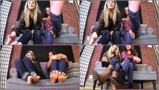 Boots fetish – Brat Princess 2 – Princess ChiChi, Princess Chloe – You Need to be Locked in Chastity before You Worship Our Feet