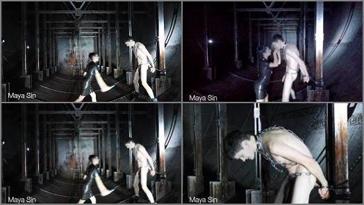 Golden Shower – Maya Sin starring in video 'Ballbusting Interrogation with truth serum in an underground bunker'
