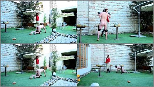 Femdom – Mistress Lady Renee starring in video 'Pumpkin balls'