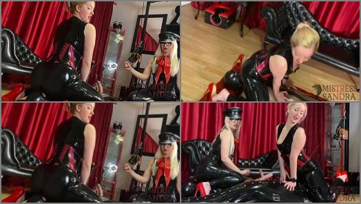 Mistress Sandra Mistress Alexandra Wildfire starring in video Latex edging preview