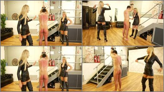 Mistress Tess starring in video Double casual whipping of Lady Dark Angel UK studio preview