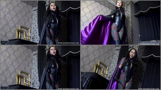 Leather Dress – Mistress Youko starring in video 'The Villainess With A Black Cloak 2'
