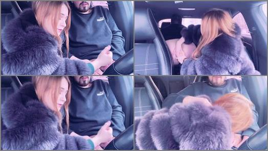 Ass Fuck – Mistress in a Fur Coat Fucked a Guy in the Car and Sucked him until he Cum