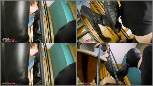 Boot Domination –   'Under my boots – part 1' of 'Foot Goddess Mia' studio
