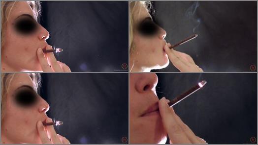 Femdom –   'smoking a More 120s red' of 'Smoking Mania' studio