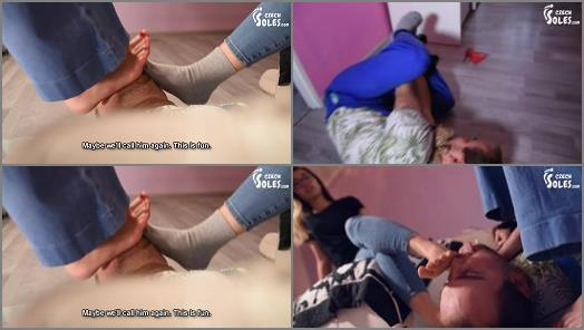 Czech Soles  Indecent handyman learns his lesson below their 4 dominant feet   Sun and Ester preview