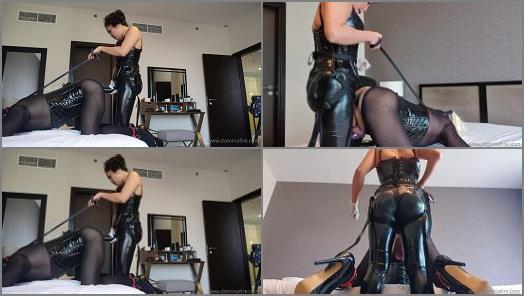 Dildo Fucking – Domina Fire – Strapon Can you take this big strapon too like a good slut Part 1