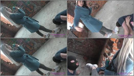 Dirty Ground – LICKING GIRLS FEET – NICOLE – Walk through an abandoned house – Humiliates her pathetic loser slave