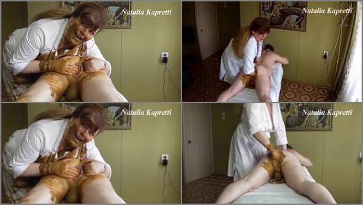 Smearing –  Natalia Kapretti – Mistress – Great fisting with smelly shit, love it