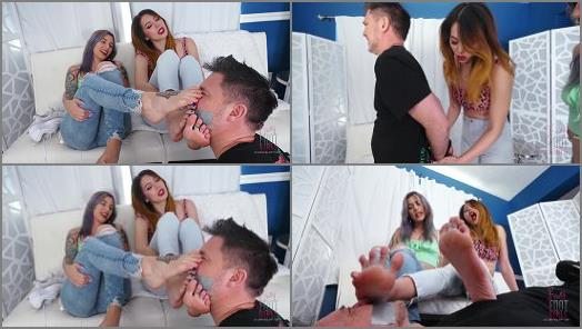 Addie Juniper – Bratty Foot Girls – Lose the Game, Smell the Feet –  Onyx and Mia