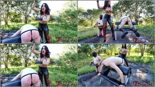 Online – Clubdom – Femdom spanking – Caning Bitch –  Megan Jones