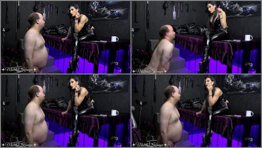 Submissive Slave Training – Mistress Kennya – A flabby wanker to humiliate