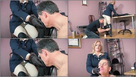 Boots Outside – The English Mansion – Stable Boy Boot Duties – Complete Movie –  Lady Nina Birch