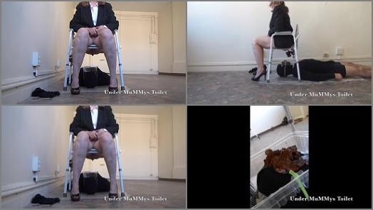 1080p –  Under MuMMys Toilet – Open Your Mouth and Take My Shit TOILET