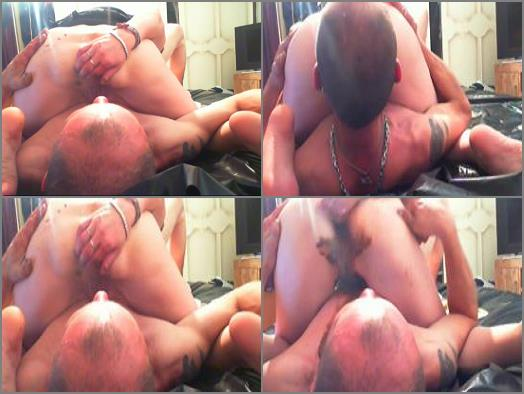 Scatting Domination –  Goddess Andreea – Fist fucked by slave then shit ingesting
