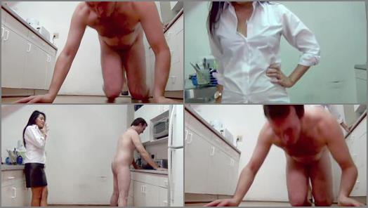 Ball Kicking – Asian Mean Girls – A DIRTY KITCHEN IS JUST CAUSE FOR YOUR TRAMPLED AND BUSTED BALLS